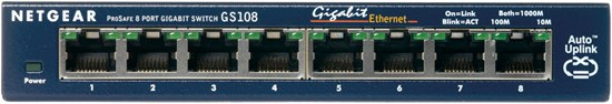 Immagine di Netgear GS108GE - ProSafe Switch 8 porte Gigabit