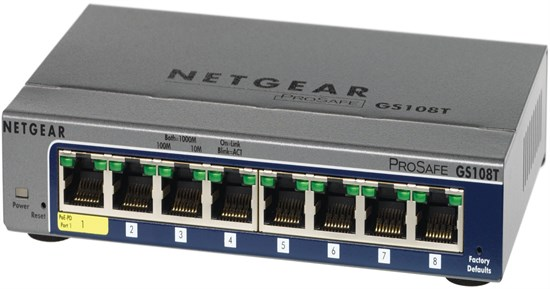 Immagine di Netgear GS108T - ProSafe Smart Switch 8 porte Gigabit