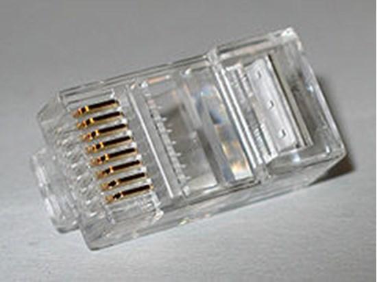 Immagine di Connettore RJ45 UTP  8 Poli 8 Contatti