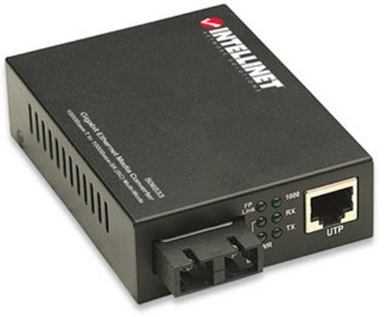 Immagine di Manhattan I-ET SX-FC - Convertitore fibra FX SC Multimodale - Rj45