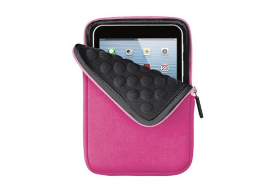 "Immagine di Trust 18779 - 7"" Anti-shock Bubble Sleeve for tablets - pink"