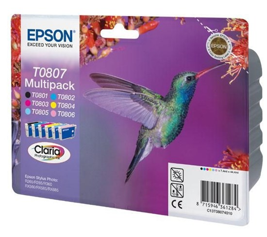 Immagine di Epson C13T08074021 - Multipack Colibrì