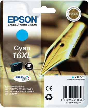 Immagine di Epson C13T16324010 - Cartuccia Penna e Cruciverba Ciano XL