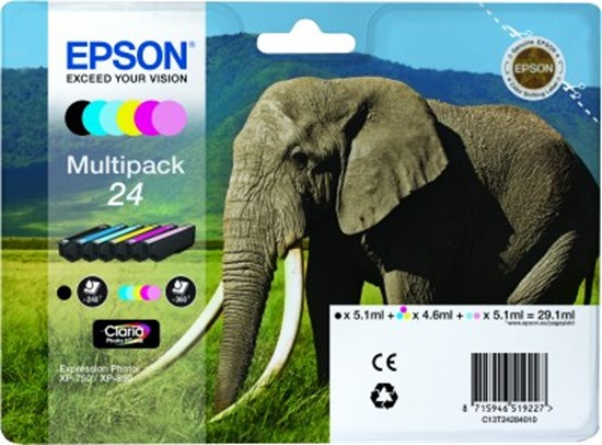 Immagine di Epson C13T24284020 Multipack Elefante
