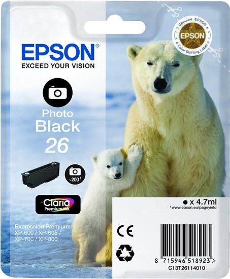 Immagine di Epson C13T26114010 - Cartuccia Orso Nero Photo