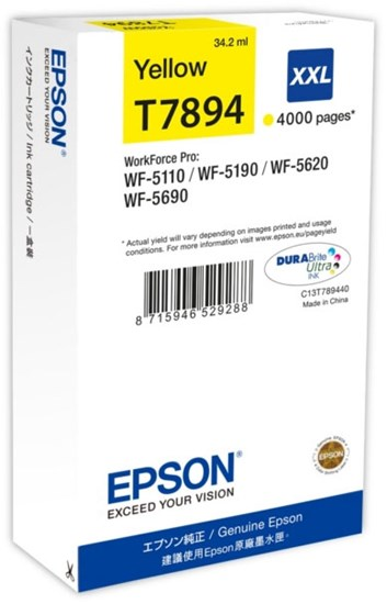 Immagine di Epson C13T789440 - Serbatoio Giallo XXL