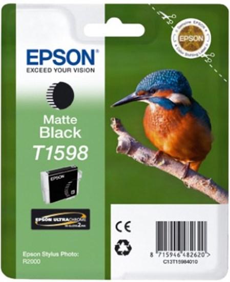 Immagine di Epson C13T15984010 - Cartuccia Martin Pescatore Nero Matte XL