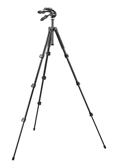 Immagine di Manfrotto MK293A4-D3Q2 - Treppiede 290 4 Sezioni Alu + Testa 3 movimenti