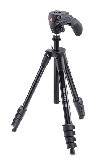 Immagine di Manfrotto MKCOMPACTACN-BK - Treppiedi Compact Light Nero con testa 3 movimenti
