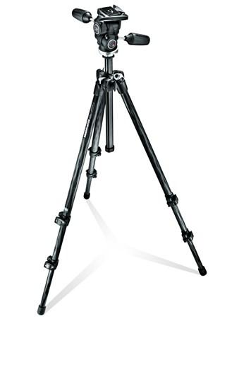 Immagine di Manfrotto MK294C3-D3RC2 - Kit Treppiedi 294 Carbonio + testa 3 movimenti QR RC2