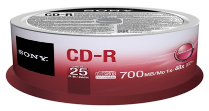 Immagine di Sony CD-R 700 MB - Spindle 25 pezzi