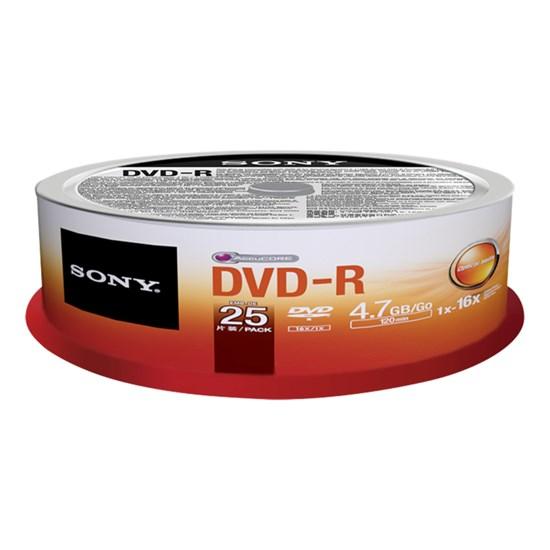 Immagine di Sony DVD-R 4,7 GB - Spindle 25 pezzi