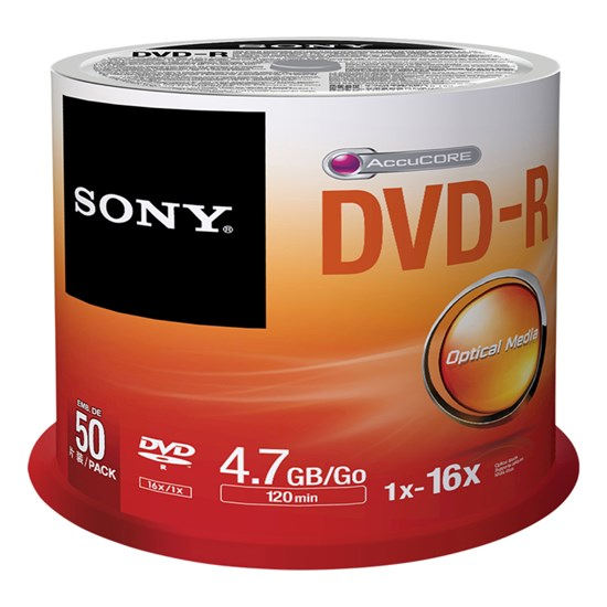 Immagine di Sony DVD-R 4,7 GB - Spindle 50 pezzi