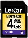 Immagine di Lexar SDHC Classe 4 - 4GB