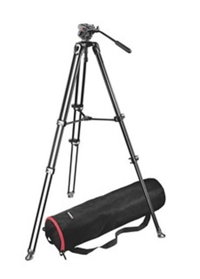 Immagine di Manfrotto 701HDV-MVT502AM - Treppiedi con testa foto video professionale