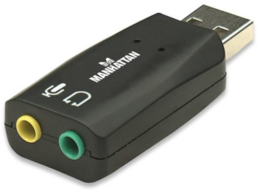 Immagine di Scheda audio Usb con uscita Microfono e Cuffia