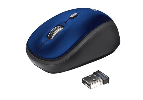 Immagine di Trust 19663 - Yvi Wireless Mouse - blue