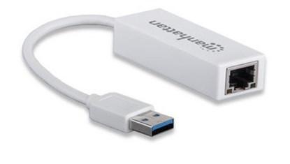 Immagine di Manhattan Adattatore USB 2.0 con porta Ethernet LAN 100Mbps