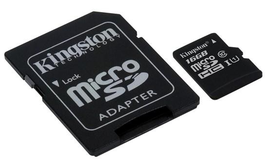 Immagine di Kingston Micro SDHC classe 10 con adattatore SD - 16GB