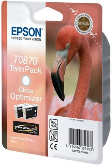 Immagine di Epson C13T08704020 - Cartuccia Fenicottero Gloss Optimizer (Twin Pack)