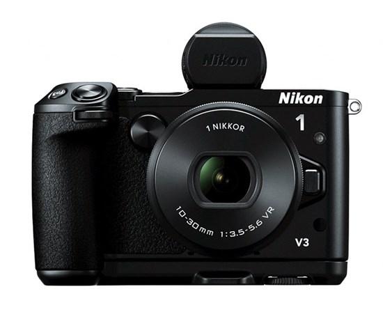 Immagine di Nikon 1 V3 Nera+ Obiettivo 10-30 mm f/3.5-5.6 + Card 16 GB 400X