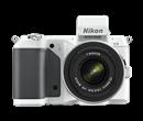 Immagine di Nikon 1 V2 Bianca + Obiettivo 10-30 mm f/3.5-5.6 + Card 8 GB 400X