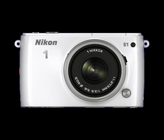 Immagine di Nikon 1 S1 Bianca + Obiettivo 11-27,5 mm + Card 8 GB 400X