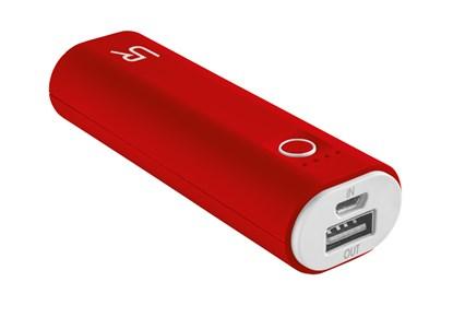 Immagine di Urban Revolt 20507 - Cinco PowerBank 2600 Portable Charger - red/white