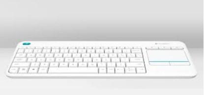 Immagine di Logitech K400 Plus - Tastiera wireless con touchpad integrata (bianca)