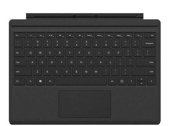 Immagine di Microsoft Surface Pro 4 Type Cover Nera - R9Q-00049