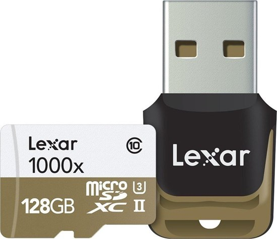 Immagine di Lexar Micro SDHC 128 GB Classe 10  UHS-3 1000x con reader -  LSDMI128CBEU1000R
