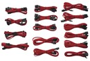 Immagine di Corsair Professional Individually Sleeved Cable Kit, Type 3 (Gen.2) - Rosso