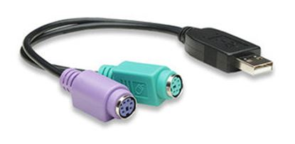 Immagine di Cavo USB a 2 porte PS/2 per tastiera e mouse - 364966