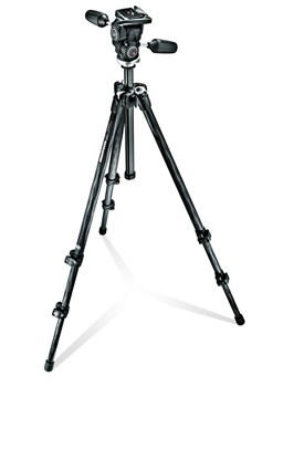Immagine di Manfrotto MK294C3-D3RC2 - Kit Treppiedi 294 Carbonio + testa 3 movimenti QR RC2