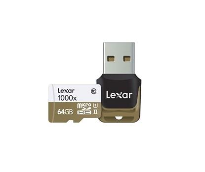 Immagine di Lexar Micro SDHC  64 GB Classe 10  UHS-3 1000x con reader -  LSDMI64GCBEU1000R