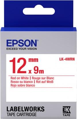 Immagine di Epson C53S654011 - Nastro LK4WRN Standard Rosso/Bianco 12 mm x 9 mt