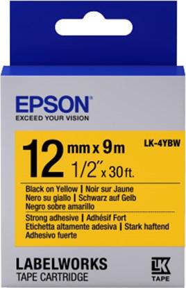 Immagine di Epson C53S654014 - Nastro LK4YBW Standard Nero/Giallo 12 mm x 9 mt