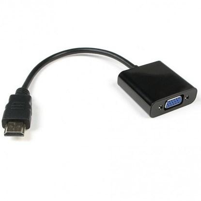 Immagine di Convertitore Cavo da HDMI a SVGA con audio - IDATA HDMI-VGA2A