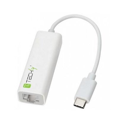 Immagine di Techly IADAP USB31-ETGIGA- Adattatore da USB-C M a Gigabit Ethernet