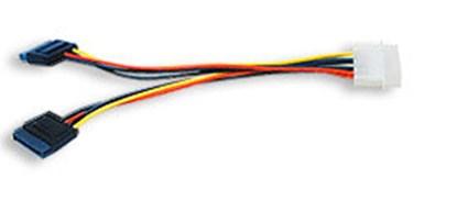 Immagine di Cavo di alimentazione interna Serial ATA - da Molex a 2 Sata - ICOC SATA-516