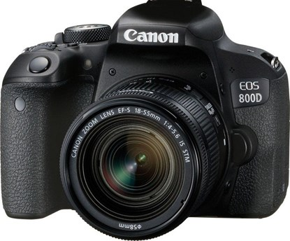 Immagine di Canon Eos 800D + EF-S 18-55 mm f/4-5.6 IS STM