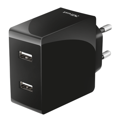 Immagine di Trust 21712 - 2x12W Fast Dual USB Wall Charger for phones & tablets