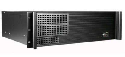 "Immagine di Chassis industriale a rack 19"" 3U Ultra compatto (39 cm) - I-CASE MP-P4HX-BLK4"