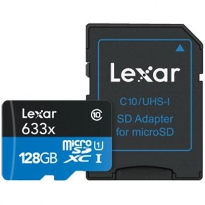 Immagine di Lexar Micro SDHC 128 GB 633X UHS-I con adattatore SD - 932718