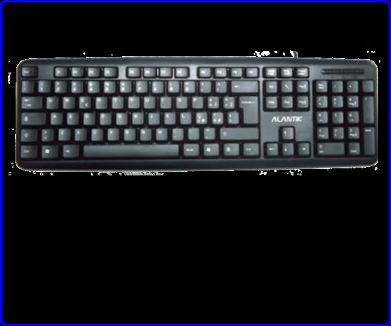 Immagine di Alantik KBALS2 - Tastiera Usb standard nera