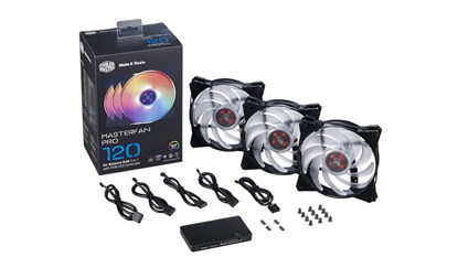 Immagine di Cooler Master Masterfan Pro 120 RGB - Box 3 ventole con controller