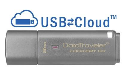Immagine di Flash Pen Kingston Data Traveler Locker+ G3 8GB - DTLPG3/8GB