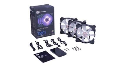 Immagine di Cooler Master - Kit 3 ventole Masterfan Pro 120 + controller