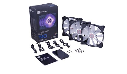 Immagine di Cooler Master - Kit 3 ventole Masterfan Pro 140 + controller