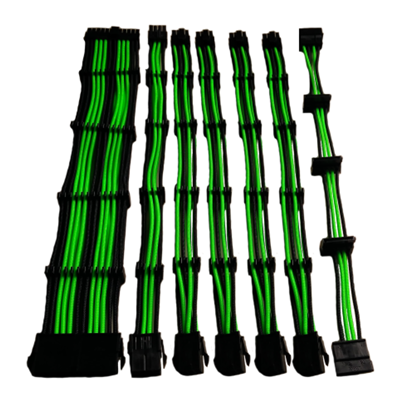Immagine di CTesports UGCAGR - Set 7 prolunghe per gaming Green/Black